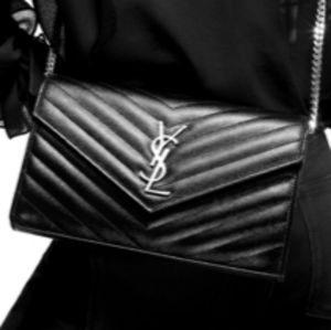 Saint Laurent YSL Cross body Shoulder Clutch Bag